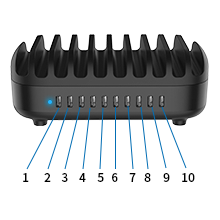 10 ports charging station