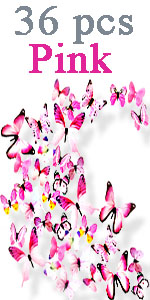 pink butterflies wall decals