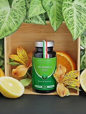 Moringa Bio integratore vegano naturale limone biologico benessere