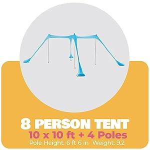 4 pole tent