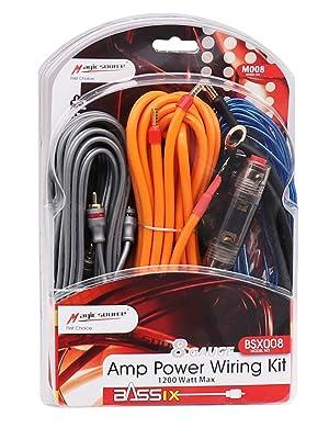 magic source Amp Wiring Kits 8 Gauge Car Audio Amplifier Installation Wiring Kit (8 Gauge)