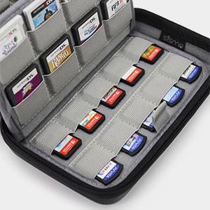 Sisma Funda de juegos para 72 cartuchos Nintendo Switch 3DS DS 2DS PS Vita o Tarjetas SD - Estuche cartuchos juego - color negro: Amazon.es: Videojuegos