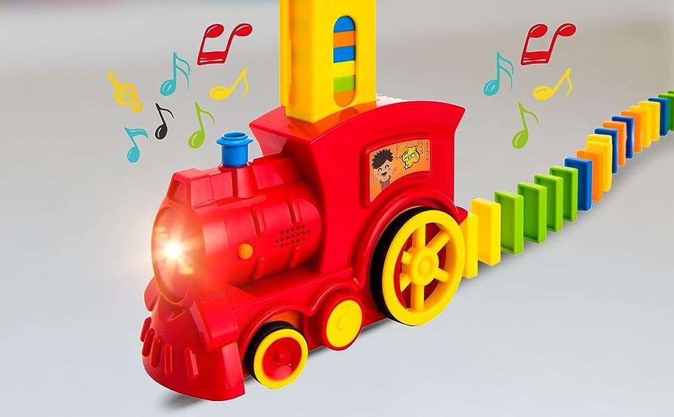 domino train set blocks for kids gift