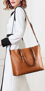 Leather Laptop Tote