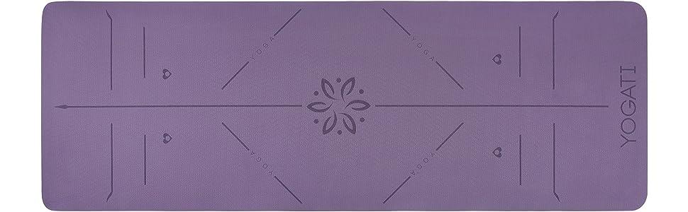 Gym Yoga Pilates et Fitness 183x61cm Extra /Épais 6mm Tapis dexercice pour Sport au Sol PIDO Tapis de Yoga Antid/érapants Non Toxique /Écologiques en TPE par SGS Certifi/é avec Sangle de Transport