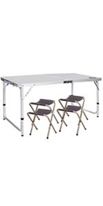 Amazon Com Redcamp Aluminum Folding Table 3 Foot