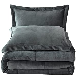 Micromink comforter folded up view