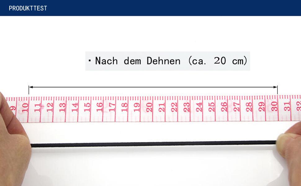 2.5mm,100 Yards, Schwarz Lantch Gummiband Wei/ß Elastische Rundschnur 100 Yards Elastic Band Rundgummi Gummikordel f/ür DIY