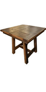 reclaimed barnwood extendable dining room table wooden table with leaf extenders made in the usa