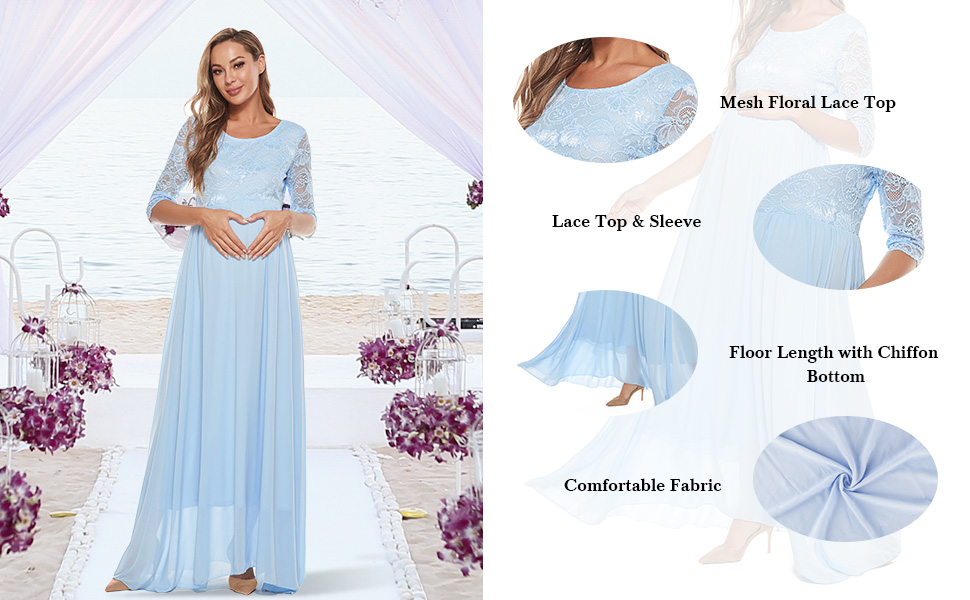 Maternity maxi photography dress bridesmaid evening cocktail wedding party dress for pregnant women