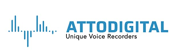 atto digital - unique voice recorders logo