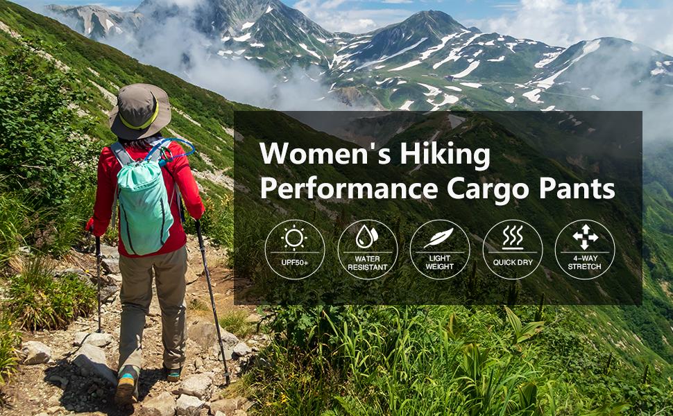 womens hiking fishing cargo pants