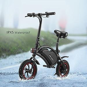 ANCHEER 2019 Folding E-Bike 350W Electric Bike, 12 Miles Range Scooter with Dual Disc Brake