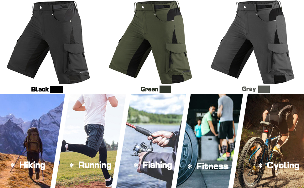ZMMHW Men MTB Cycling Shorts With 3D Padded Cycling Underwear Bicycle Road Mountain Bike Loose Baggy Outdoor Downhill Shorts