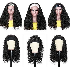 water wave scaf human hair wigs