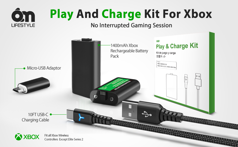 xbox charger battery pack