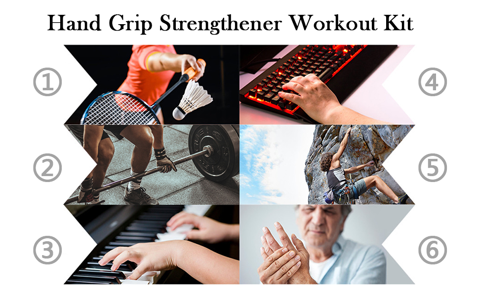 Hand Grip Strengthener Workout Kit