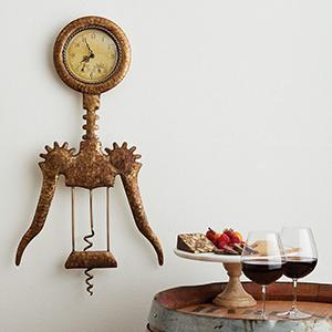 wine, wine enthusiast, houseware, clock, wine clock, wine accesories