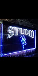 ADVPRO Studio On Air Microphone Illuminated Dual Color LED Neon Sign light Live Home Professional