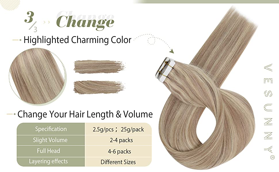 Seamless Skin Weft Hair Extension Tape in Human Hair