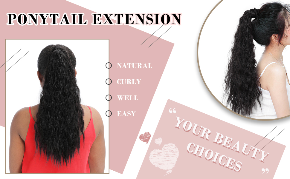pony tails hair extensions