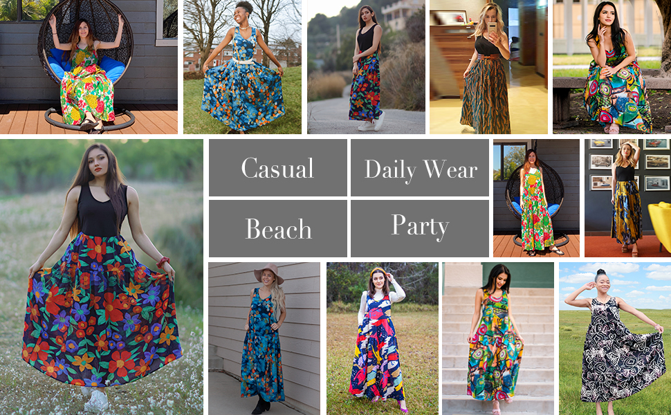Women Casual Swing Dresses