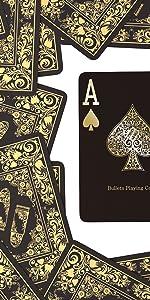 Schwarze Spielkarten