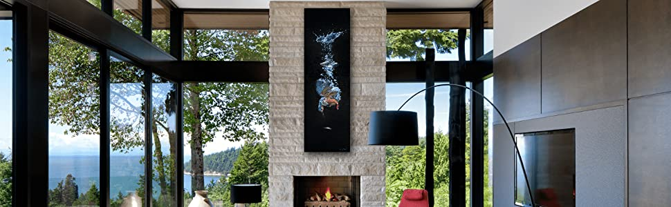 diving for silver staged contemporary living room decor banner
