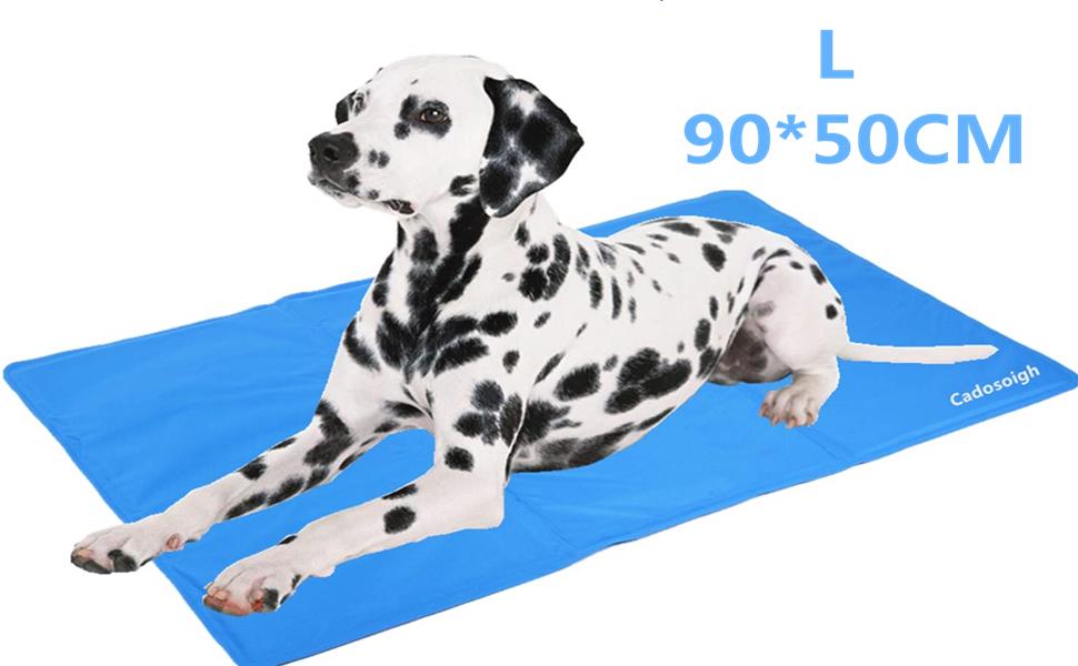 Cadosoigh Alfombra de Refrigeración Animales Nevera y Manta para Perro Fresco Cojín Azul Nevera Techo Camas de Suelo Couch Zwinger Auto 90X50 cm (65 * ...