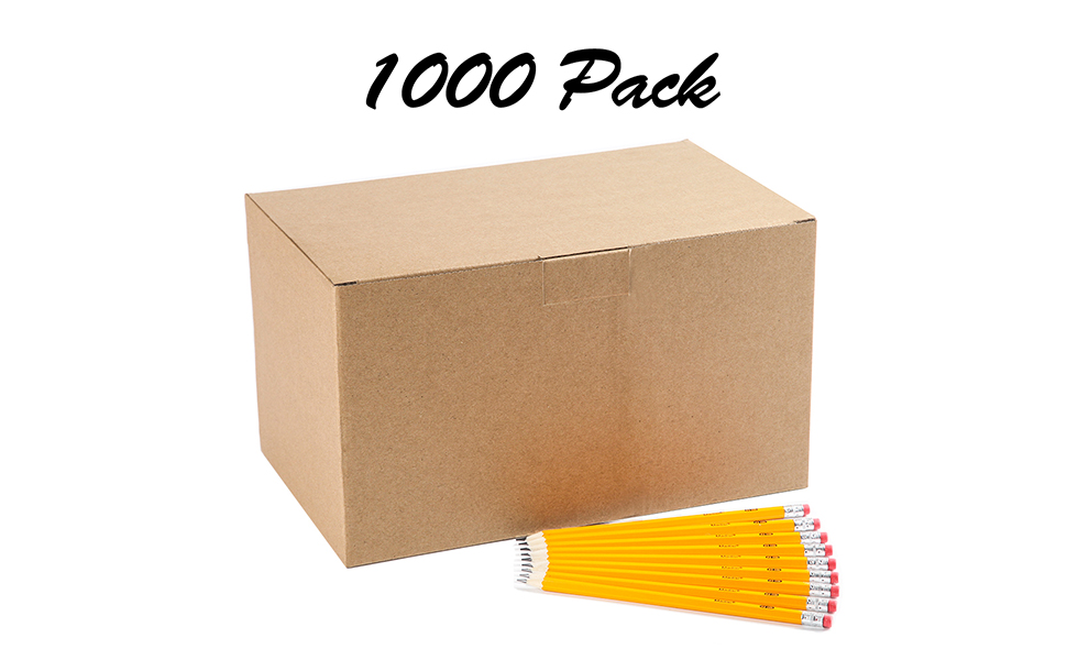 Yellow Class Pack 576 pencils in box by Madisi Pre-sharpened Wood-Cased #2 HB Pencils