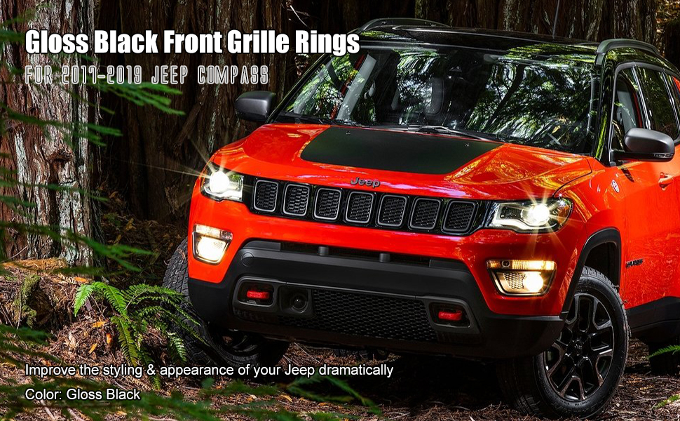 Gloss Black Grill Ring for 2017 Compass