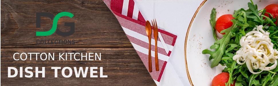 kitchen cotton dish sack towel footer