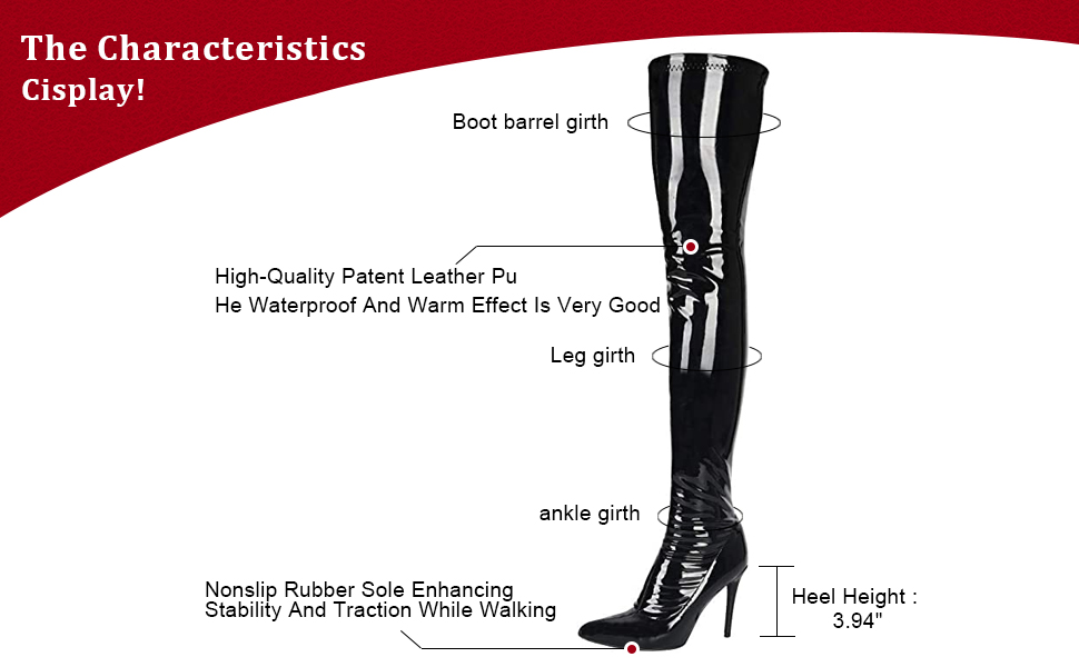 Details about  /Women Fashion Leather Pointed Toe Block Heel Knee High Riding Boots Shoes OSCO
