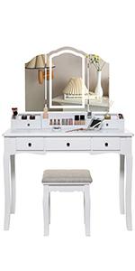 Vanity set makeup table
