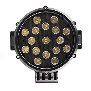 "7"" Round Black LED Light"