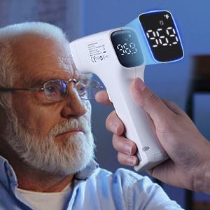 CocoBear Baby Fieberthermometer Stirnthermometer Ohrthermometer Medizinischer Infrarot Digital Thermometer Mehrweg Sofortiges Lesen Fieberwarnung Klinische /Überwachung CE FDA und RoHS Zertifiziert