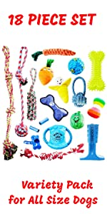 dog toy bundle pack dog rope toys value pack large dogs XL dogs extra large breeds dog ball fetch
