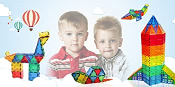 Colorful magnetic building blocks toy set