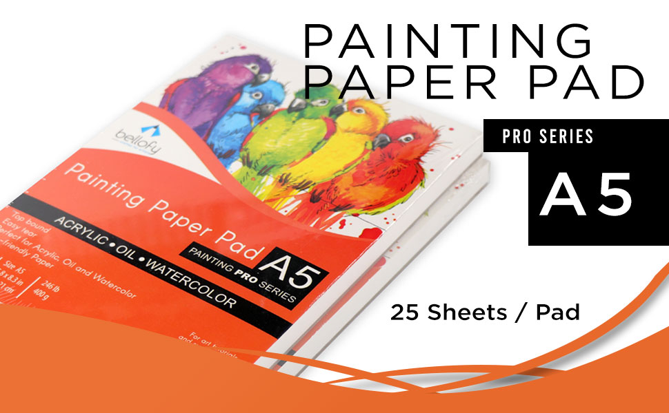 small painting paper pad for kids artists acrylic oil paints watercolor a5 size 5.8 x 8.3 inch