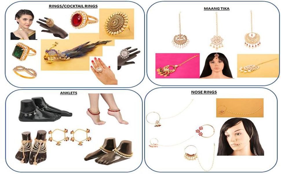 Touchstone indien Bollywood traditionnel Moghole Kundan Polki Look Neutre de mariage Ensemble de bijoux Design Collier pour femme en Dor/é