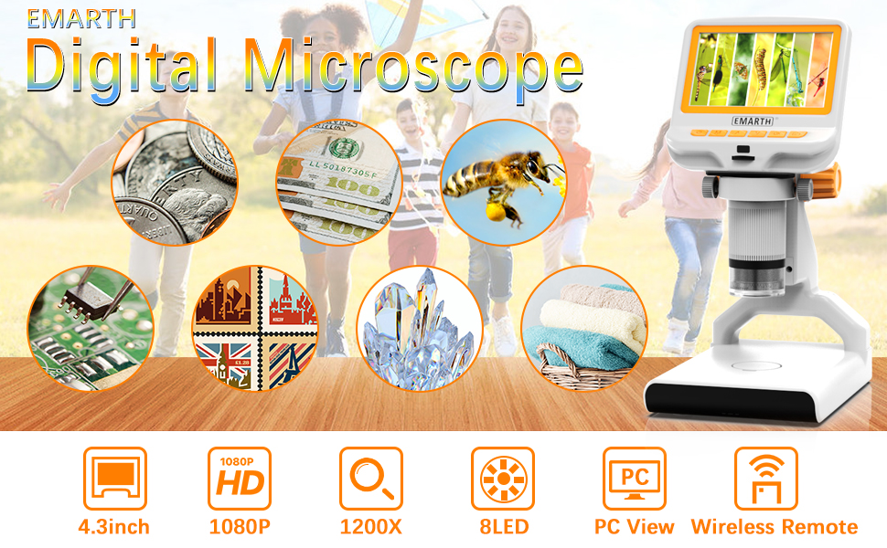 "4.3"" LCD Digital USB Microscope"