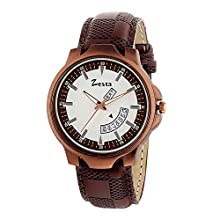 Brown Analogue Watch for Men with Day and Date