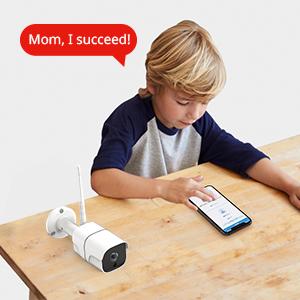 Security Camera Outdoor 1080P cctv Wireless Wi-Fi IP Surveillance Cameras