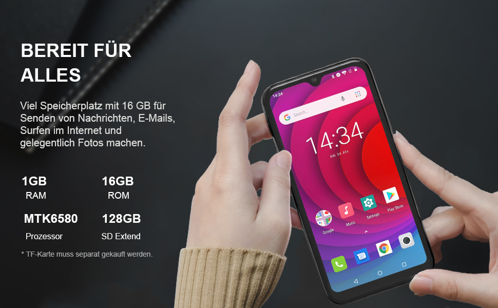 Mittelklasse Handy  Android ohne Schnickschnacka