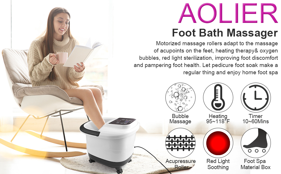Aolier foot spa massager