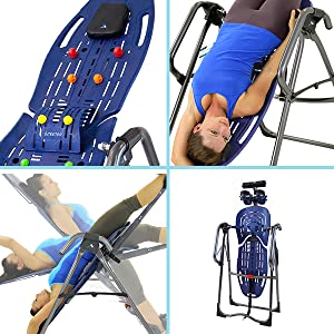 Acupressure Nodes and Lumbar Bridge included, Grip-and-Stretch Handholds, Full Rotational Control
