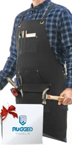 Heavy-duty Canvas Work Apron with Gift Box