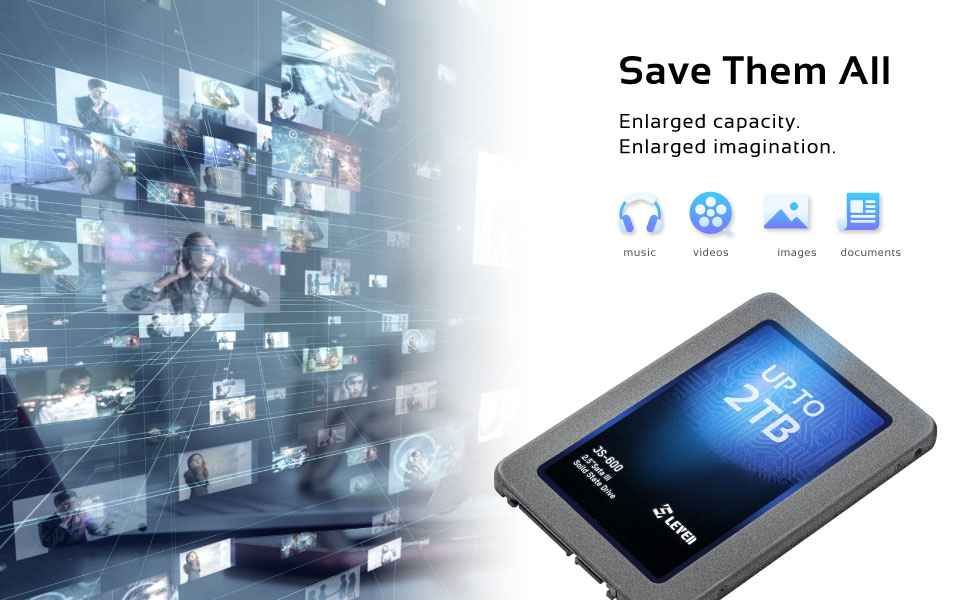 Save them all! Enlarged capacity. Enlarged imagination.