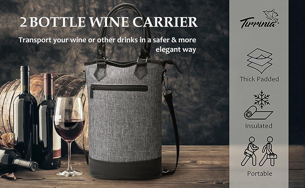 Carrier of 2 bottles of wine