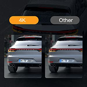 4K dash cam dual